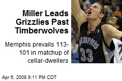 Miller Leads Grizzlies Past Timberwolves