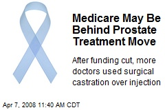Medicare May Be Behind Prostate Treatment Move