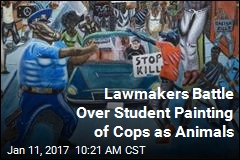 Lawmakers Battle Over Student Painting of Cops as Animals