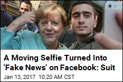 Refugee's Merkel Selfie Leads to 'Fake News' Facebook Suit