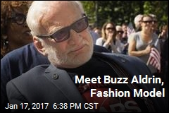 Meet Buzz Aldrin, Fashion Model