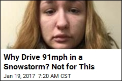 Cops: Woman Going 91mph in Snowstorm Needed New Stereo
