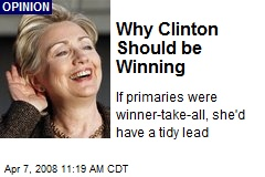 Why Clinton Should be Winning