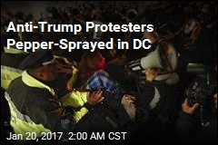 Anti-Trump Protesters Pepper-Sprayed in DC