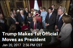 Trump Makes 1st Official Moves as President
