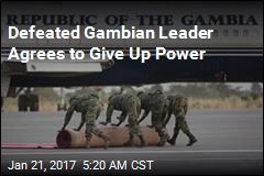 Defeated Gambian Leader Agrees to Give Up Power