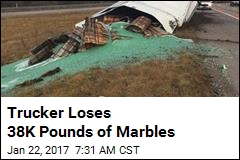 Trucker Loses 38K Pounds of Marbles