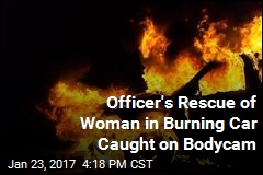 Officer's Rescue of Woman in Burning Car Caught on Bodycam