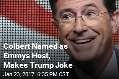 Colbert Named as Emmys Host, Makes Trump Joke