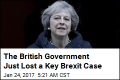 British Government Loses Key Brexit Case