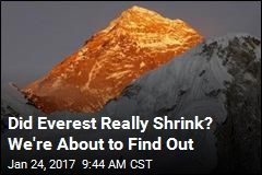 Did Everest Really Shrink? We're About to Find Out
