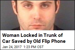 Woman Locked in Trunk of Car Saved by Old Flip Phone