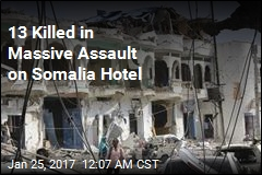 13 Killed in Massive Assault on Somalia Hotel