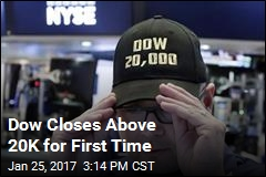 Dow Closes Above 20K for First Time