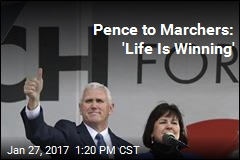 Pence to Marchers: 'Life Is Winning'
