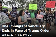 One Immigrant Sanctuary Ends in Face of Trump Order