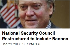 Trump Reorg Puts Bannon on the NSC