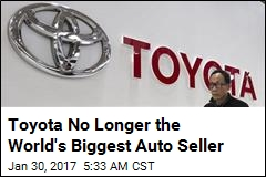 Toyota No Longer the World's Biggest Auto Seller