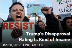 Trump's Disapproval Rating Is Kind of Insane