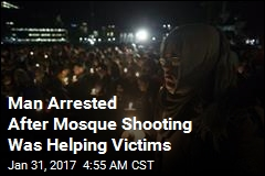 Man Arrested After Mosque Shooting Was Helping Victims