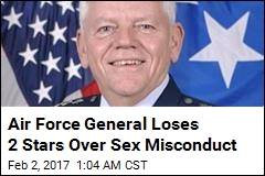 Air Force General Demoted for Sexual Misconduct