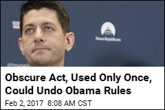 Obscure Act, Used Only Once, Could Undo Obama Rules
