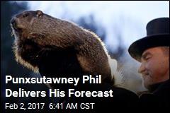 Punxsutawney Phil Delivers His Forecast