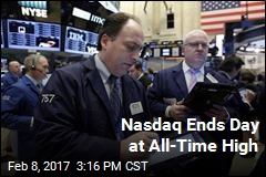 Nasdaq Ends Day at All-Time High