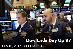 Dow Ends Day Up 97