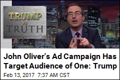 John Oliver's Ad Campaign Has Target Audience of One: Trump