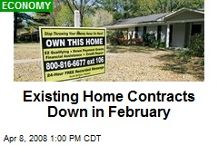 Existing Home Contracts Down in February