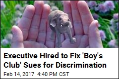 Executive Hired to Fix 'Boy's Club' Sues for Discrimination