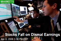 Stocks Fall on Dismal Earnings