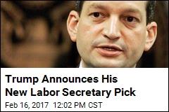 Report: Trump Settles on New Labor Secretary Pick