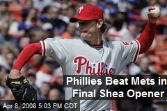 Phillies Beat Mets in Final Shea Opener