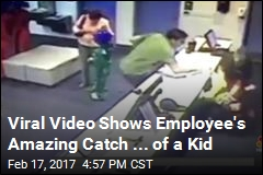 Viral Video Shows Employee's Amazing Catch ... of a Kid