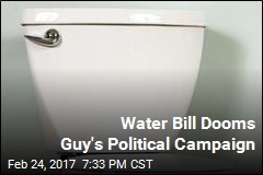 Guy's Political Campaign Doomed by Too Few Flushes