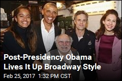 Back From Vacation, Obama Hits Broadway