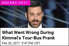 What Went Wrong During Kimmel's Tour-Bus Prank