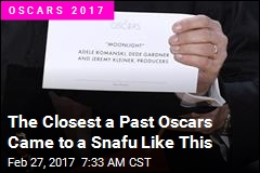 The Closest a Past Oscars Came to a Snafu Like This