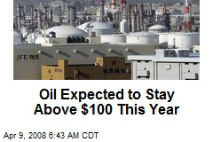 Oil Expected to Stay Above $100 This Year