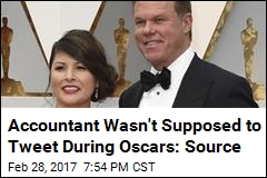 Accountant Wasn't Supposed to Tweet During Oscars: Source