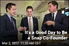 Snap's Co-Founders Are All Smiles