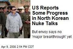 US Reports Some Progress in North Korean Nuke Talks