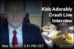 Kids Adorably Crash Live Interview