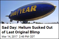 Tears as Last Original Blimp Is Deflated for Good