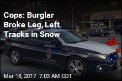 Cops: Burglar Broke Leg, Left Tracks in Snow