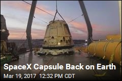 SpaceX Capsule Back on Earth