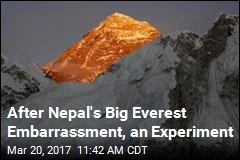 High-Tech Experiment Will Try to Stop Everest Cheaters