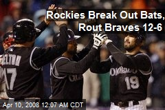 Rockies Break Out Bats, Rout Braves 12-6